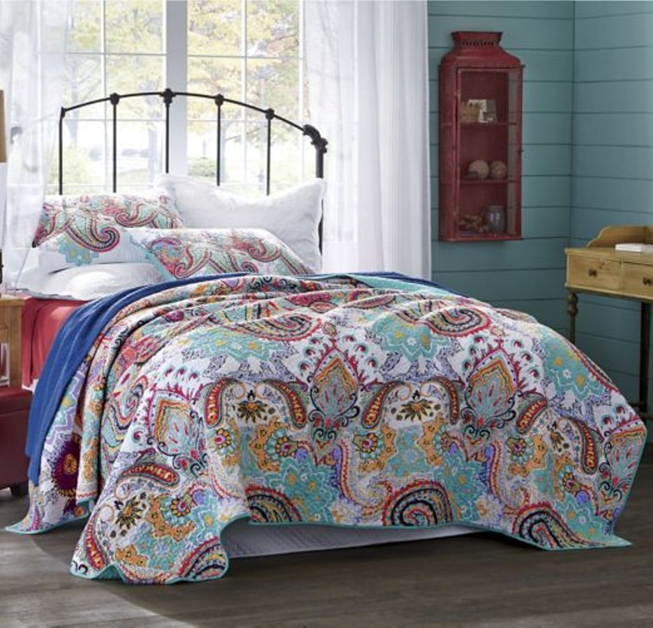 set collection bedding quilts paisley twin quilt brilliance