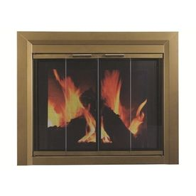 Pleasant Hearth Carrington Antique Brass Medium Bifold Fireplace