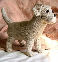 Free knitting pattern for Rufus the Lab Puppy and more free dog knitting patterns