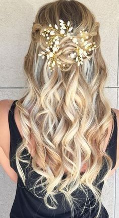 Coiffures de mariage de luxe cheveux mi-longs mi-hauts – nouveaux modèles de cheveux