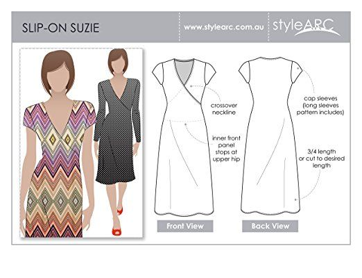 Style Arc Sewing Pattern - Slip on Suzie Dress - Sizes 04-16 - Click ...