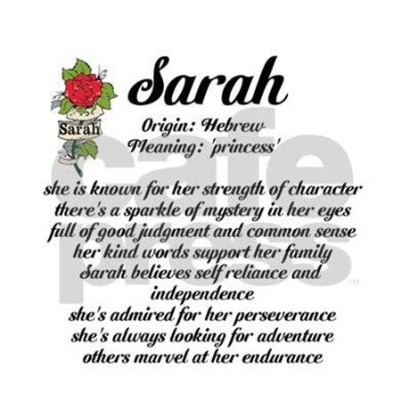 sarah name - Google Search   Meaning of my name, Words ...