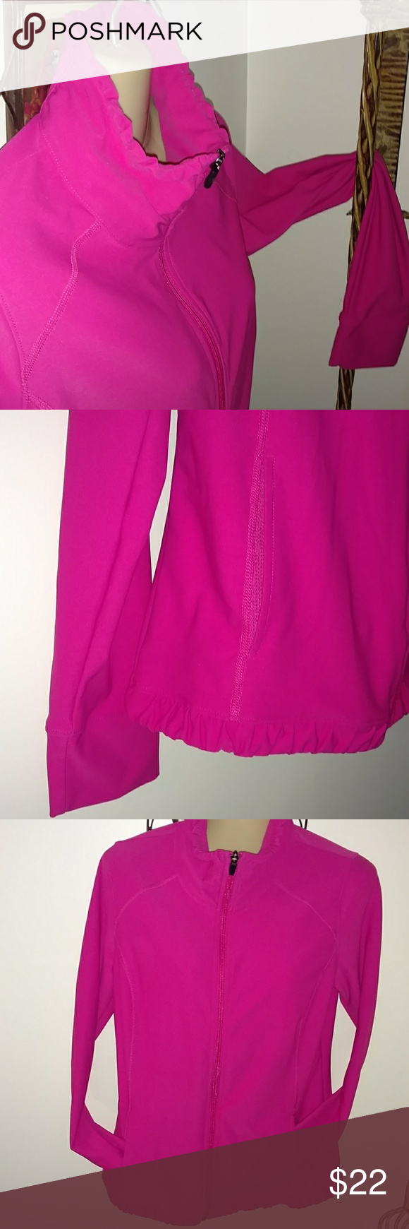 Pink dress with pink jacket  Hot pink zip up feminine style jacket  Feminine style Hot pink and