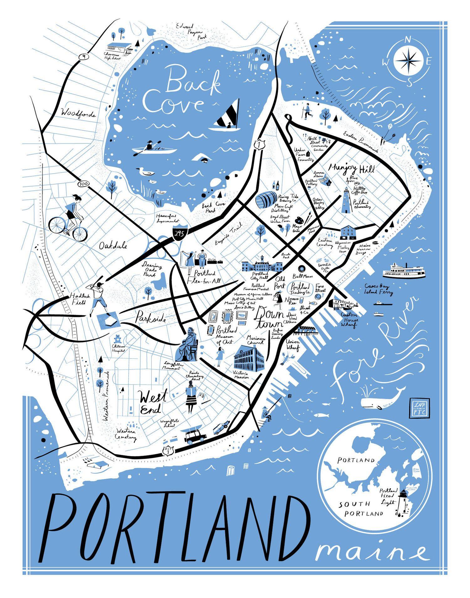 portland me street map Pin On Gorgeous Graphics portland me street map