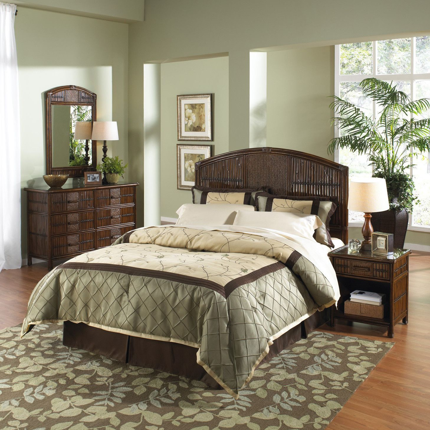Hospitality Rattan Polynesian Panel 6 Piece Bedroom Set & Reviews