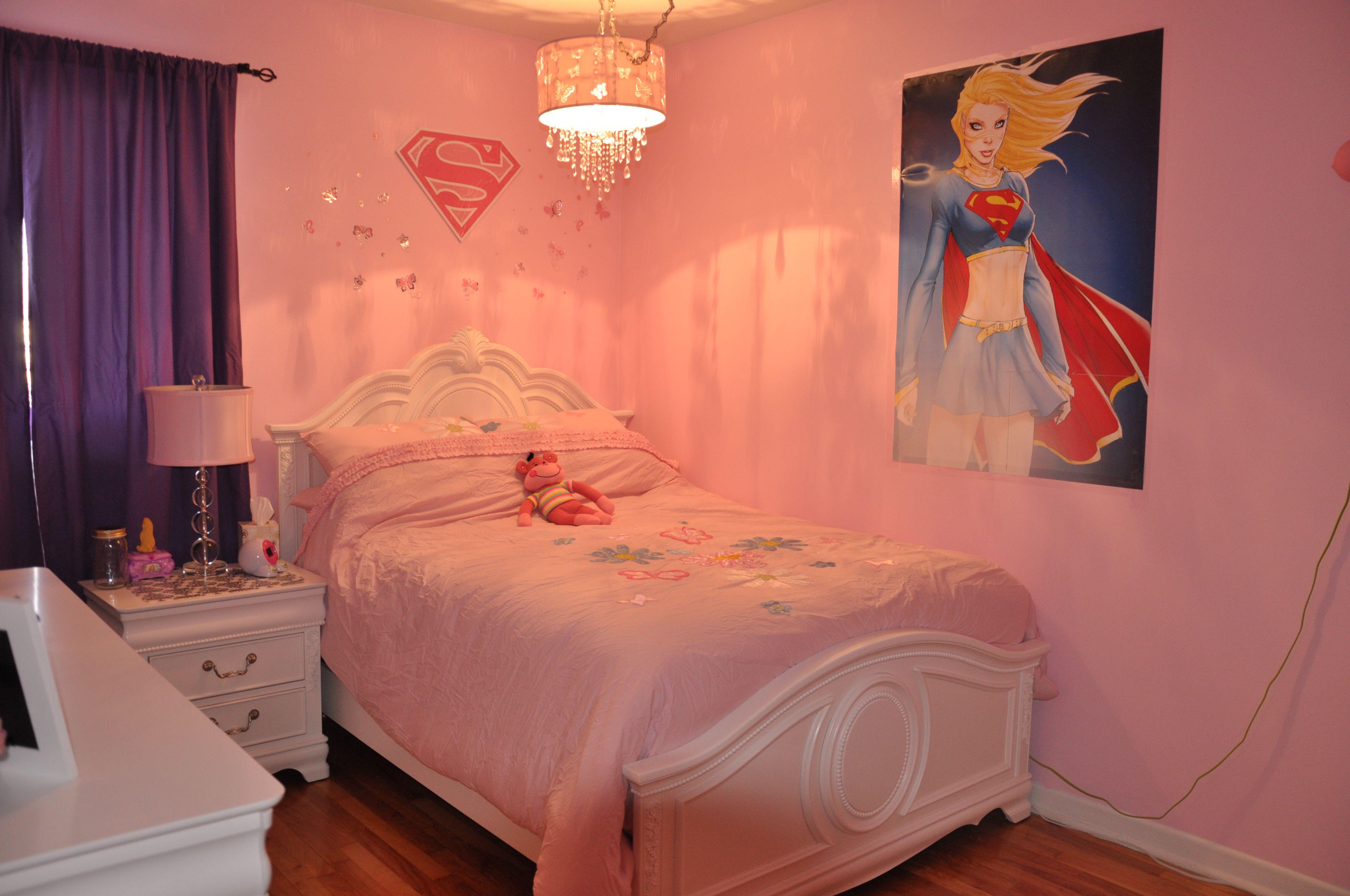 Pink Supergirl Room Pink Super Girl Room Superman