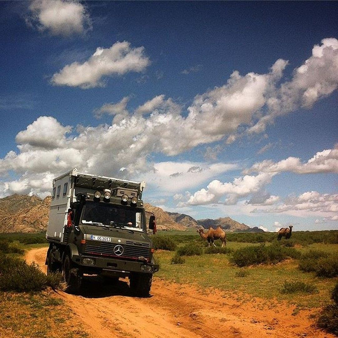 Back on track with @frauglaarks! Offroading right now somewhere in Mongolia with this awesome Unimog. Hop over to their feed on Instagram (@frauglaarks) to follow their trip!   #MercedesBenz #Unimog #Adventuremobile #Tripofalifetime #Drivingaroundtheworld #Roadtrip #traveling #mbcar #mbfanphoto #mbqualitytime #offroad