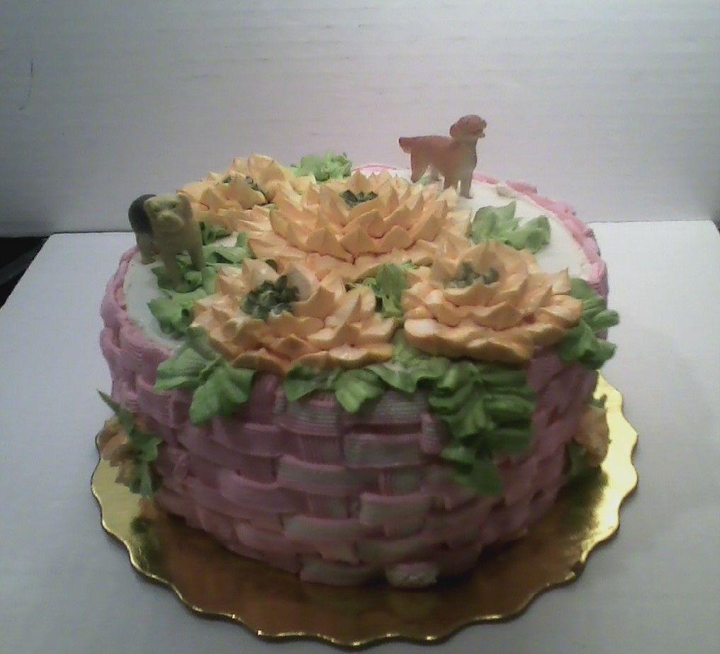 Basket Of Flowers Cleos Barkery Custom Canine Birthday Cakes