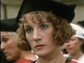 Harriet Walter as Harriet Vane in Gaudy Night | Dorothy l sayers, Night book, Bald girl