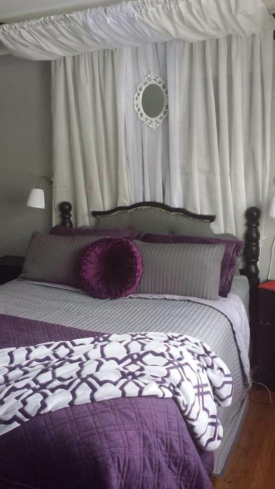 Purple Purple Bedrooms Grey Bedroom With Pop Of Color Bedroom