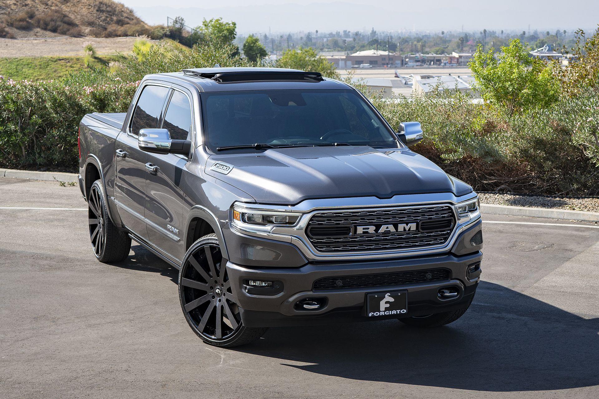 2019 Ram 1500 On Black Forgiato Rims Ram 1500 Dodge Trucks Ram Dodge Trucks