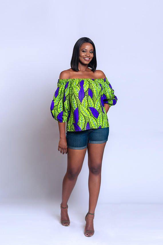 ec5e07855c1232 Off-shoulder Ankara off-shoulder African print Off-shoulder