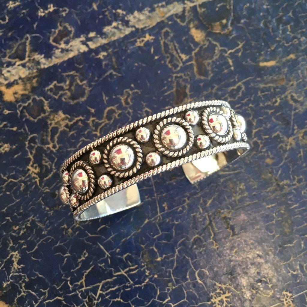 4e437a05b Viejo Taxco Mexican Silver Cuff Bracelet – Zinnia Folk Arts | Mexico ...