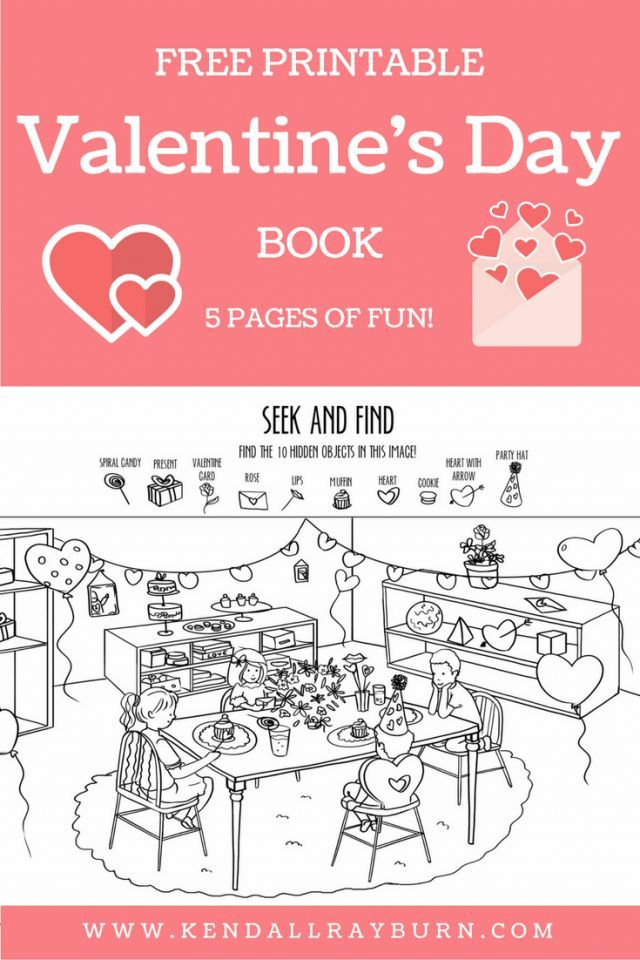 Free Printable Valentine\'s Day Activity Book | Free printable ...