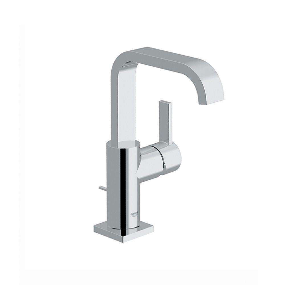 GROHE Allure 1-Hole Single Handle High-Arc Bathroom Faucet in Chrome ...