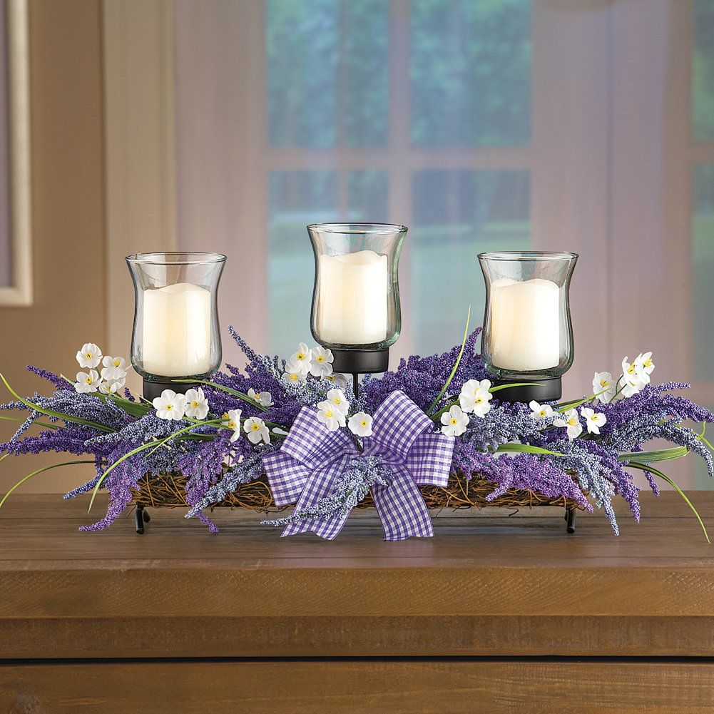 Astonishing Lavender Led Candle Holder Centerpiece Discount Home Decor Home Interior And Landscaping Analalmasignezvosmurscom