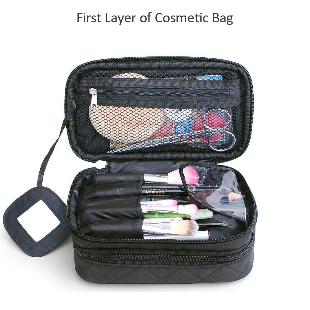 Makeup Bag Travel Cosmetic Bag Double Layer Toiletry Bag With Mirror Multifunctional Storage Bag For Women Me Travel Cosmetics Cosmetic Bag Toiletry Bag Travel