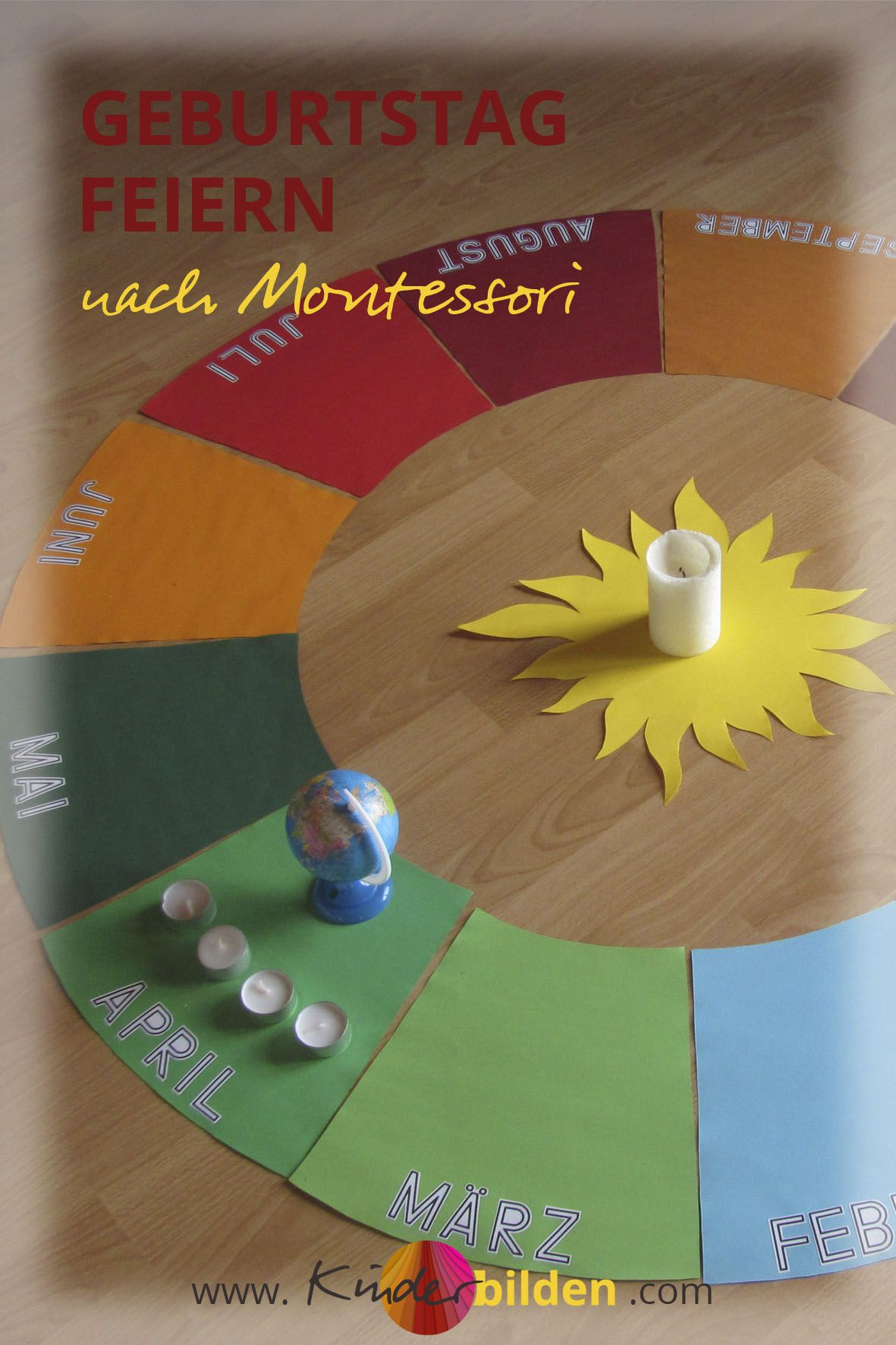 Kinder geburtstag ritual montessori jahreskreis diy lebenskreis lebensbuch geburtstag - Ideen geburtstagsfeier ...