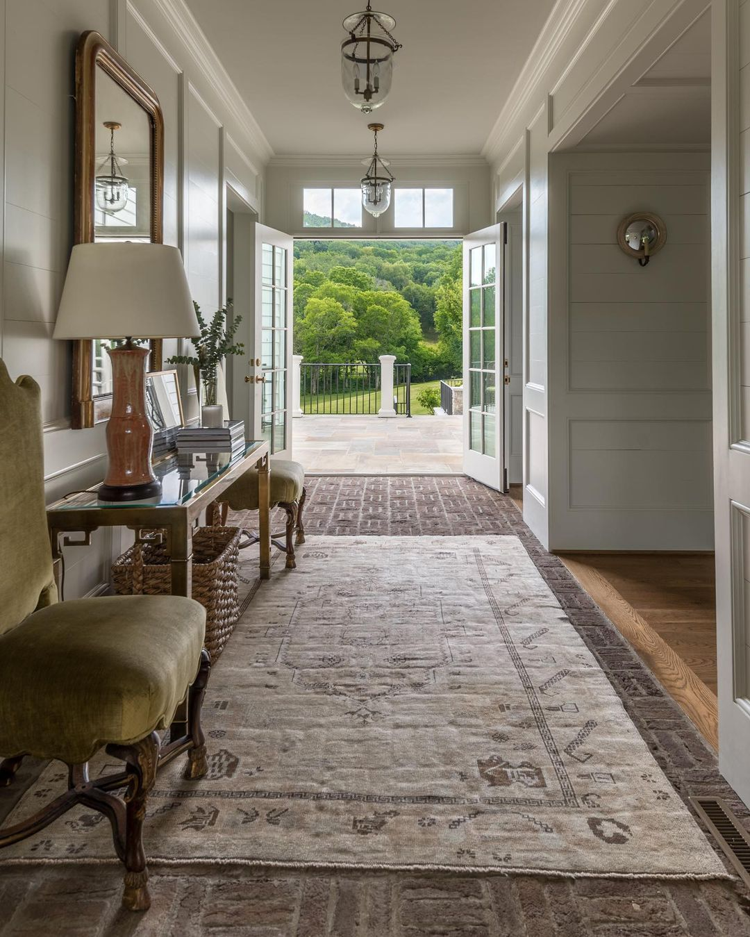 "Catherine Sloan Architect on Instagram ""I love seeing straight through a house to the rear lawn from the front entry In this house I made the entry a ""dog trot"" that connects the…"""