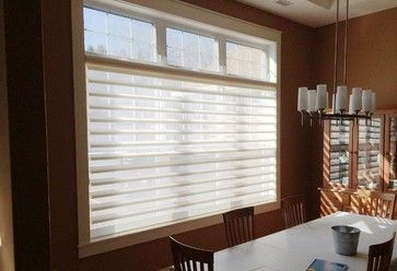 Large Window With Exposed Transom Completed With Hunter Douglas Pirouette Window Shading Dulux Paints A Hunt Window Styles Transom Windows Blinds For Windows