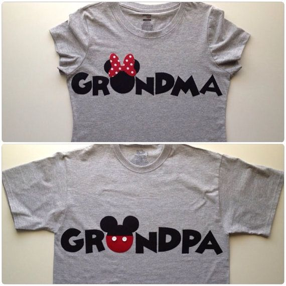 dcff503d PERSONALIZED Grandma Minnie Mouse & Grandpa by ChunkyMonkeyC ...