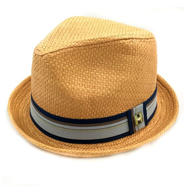 4913c606c50 Get your funky style on with this 100% paper straw fedora. It is thickly