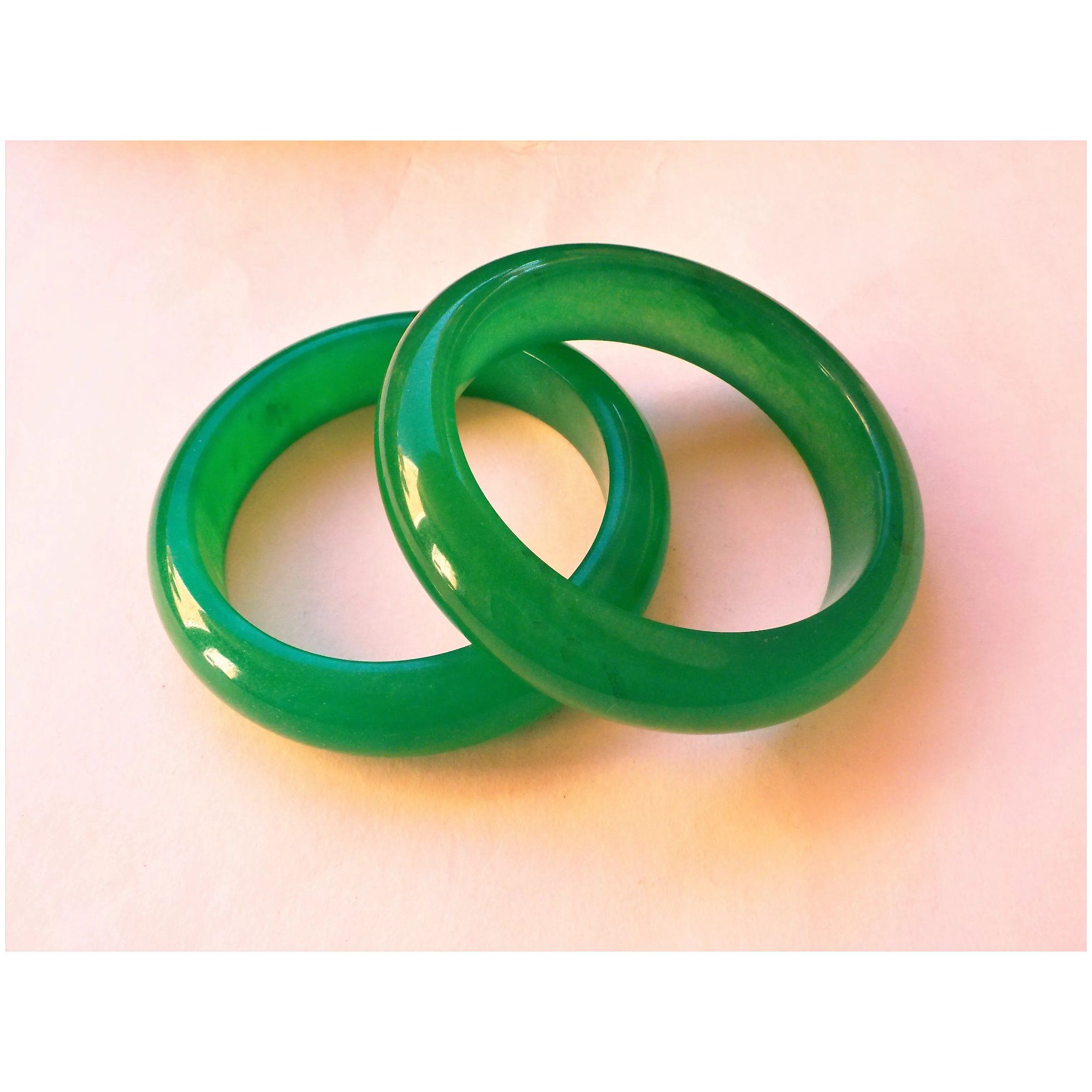 60 mm beautiful bangle Natural Chinese Dark green jade hand-carved bracelet