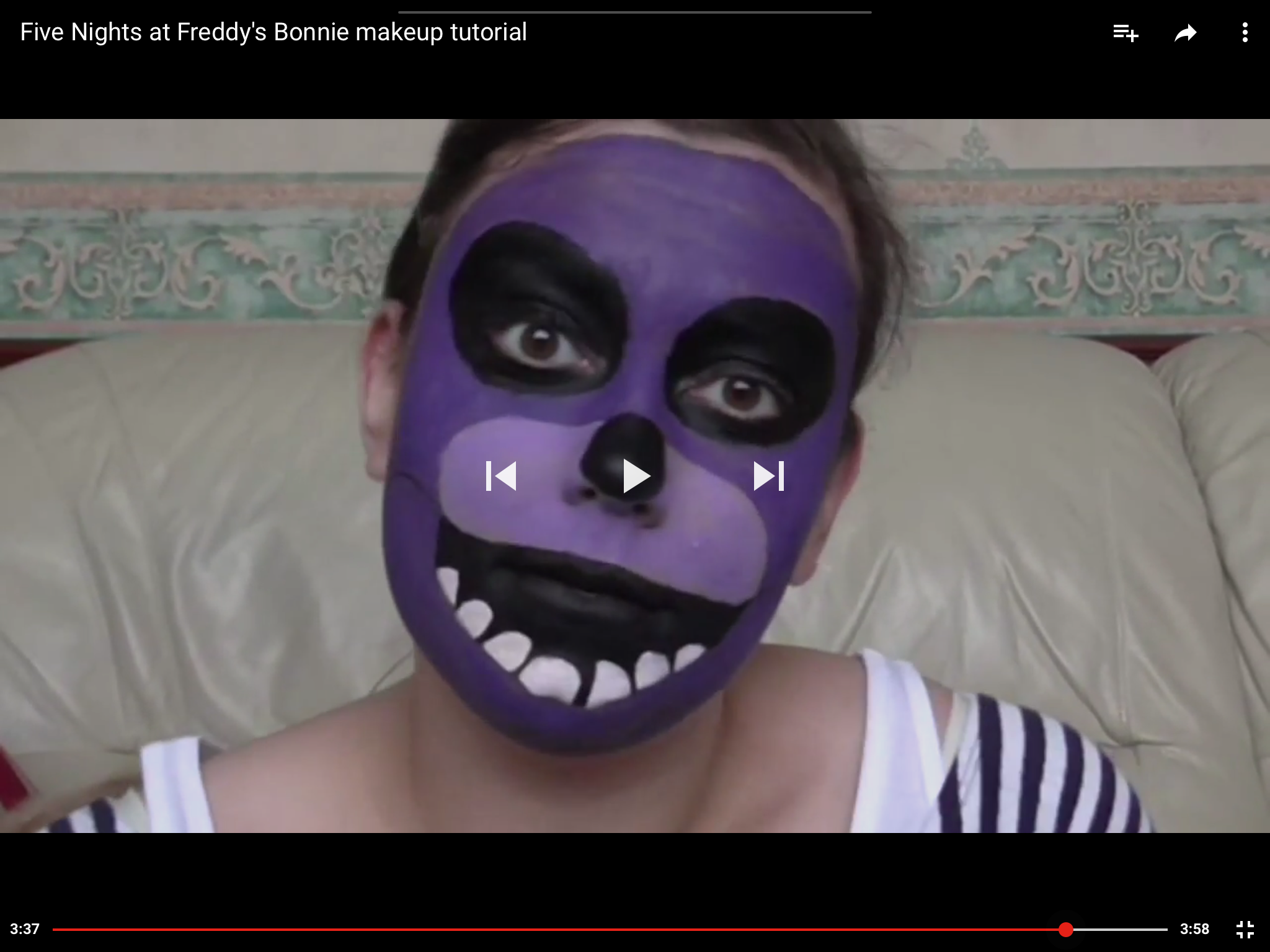 Fnaf bonnie costume for sale - Five Nights At Freddy S Bonnie Makeup Tutorial Youtube Https Www Youtube