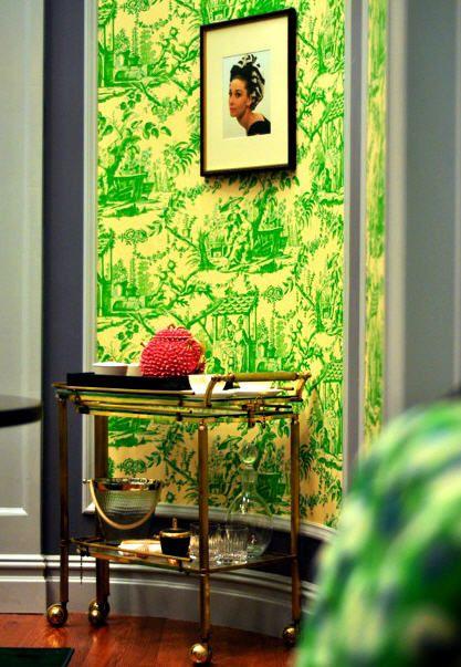 blair waldorfs office bar cart - Blair Waldorf Schlafzimmer Dekor