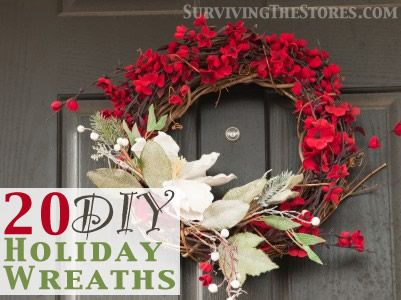 20 do it yourself holiday wreaths wreaths holiday wreaths and 20 do it yourself holiday wreaths solutioingenieria Choice Image