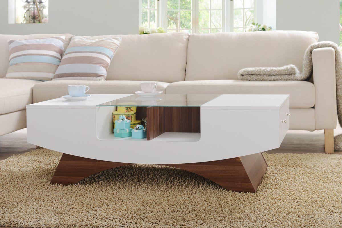 - Madilynn Trestle Coffee Table With Storage Wohnzimmertische