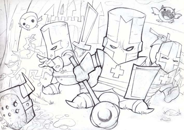 Castle Crashers Coloring Page Home | Free coloring pages | Pinterest ...