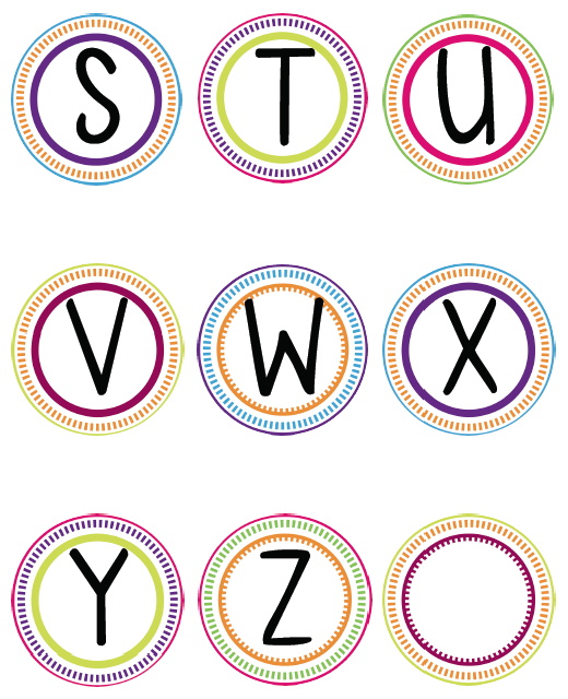 photo relating to Printable Letters for Bulletin Boards titled Phrase Wall Printable Letters S-Z Clroom Designs
