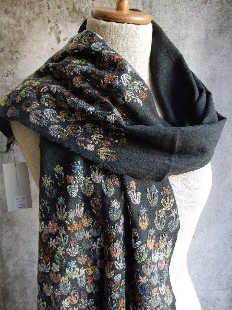"""Crocus"" embroidered scarf"
