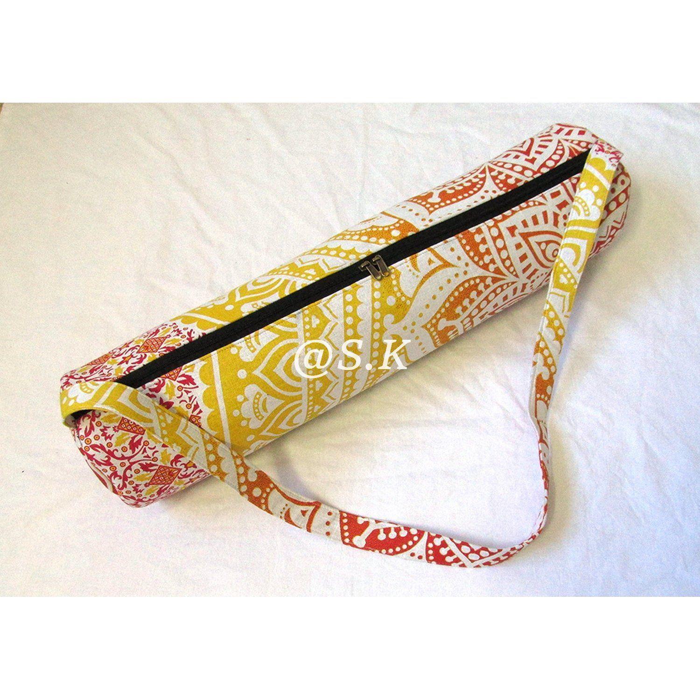 Camel Peacock Mandala Yoga Bag Hippie Gym Mat Carrier Bags With Shoulder Strap