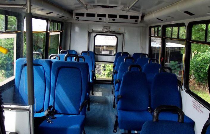 Inside The Shuttle Bus Shuttling Campus Bus