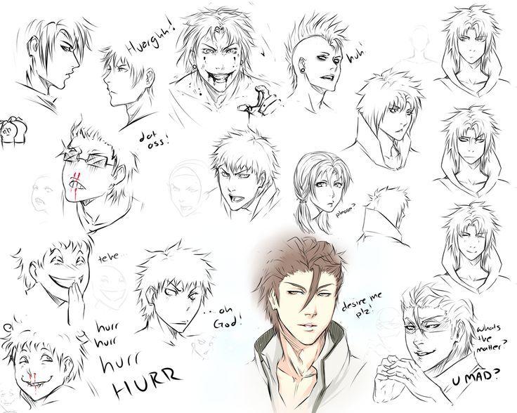 Resultado de imagen para manga face expressions drawing