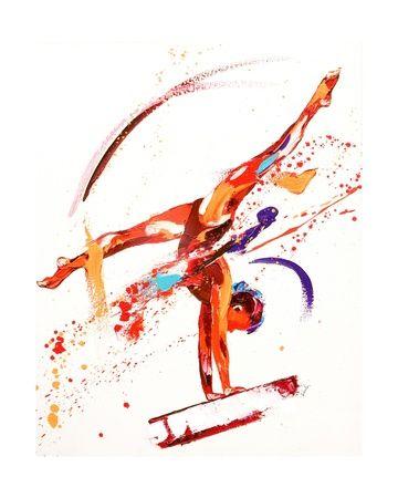 Gymnastique jeux olympiques tableaux et affiches pour amoureux d 39 art tableau - Dessin gymnaste ...