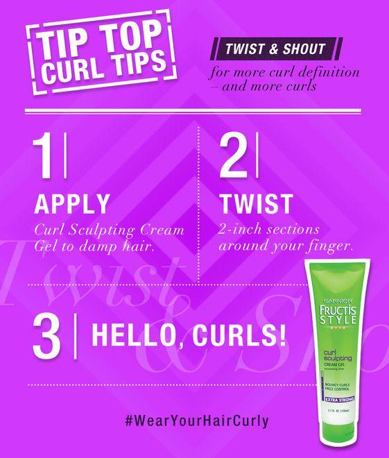 Curly Hair How To Ly Garnier Fructis Curl Sculpting Cream Gel Damp