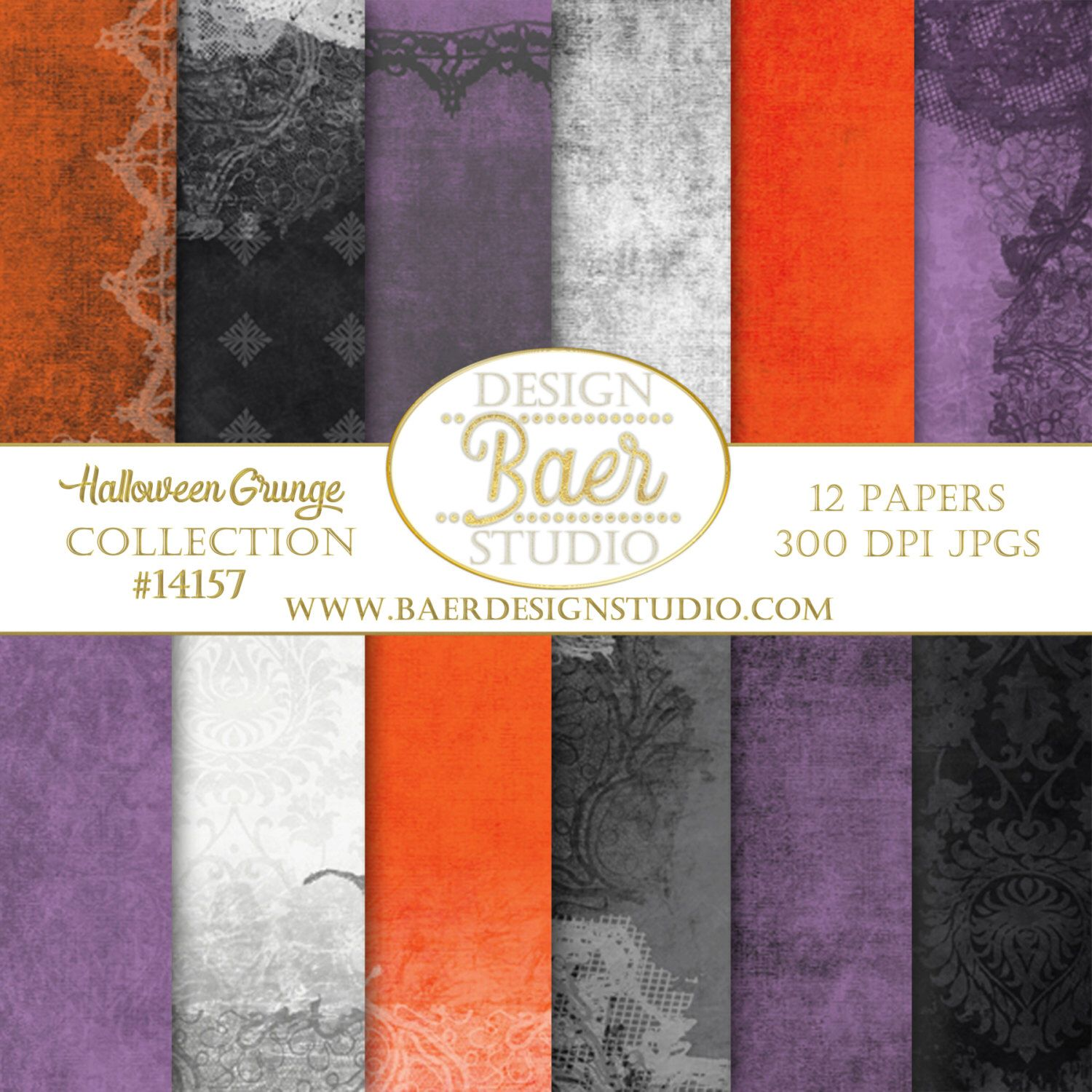 Spooky Halloween Grunge Lace Digital Paper For Creating Planner Stickers Digital Backgrounds For Scrapboo Halloween Digital Digital Paper Orange Digital Paper