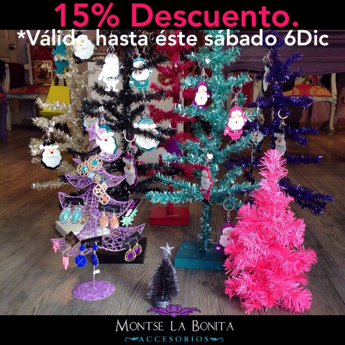 Hoy es el Último día con 15% desc todos los arbolitos navideños! Desde $119 hasta $329 menos el descuento.