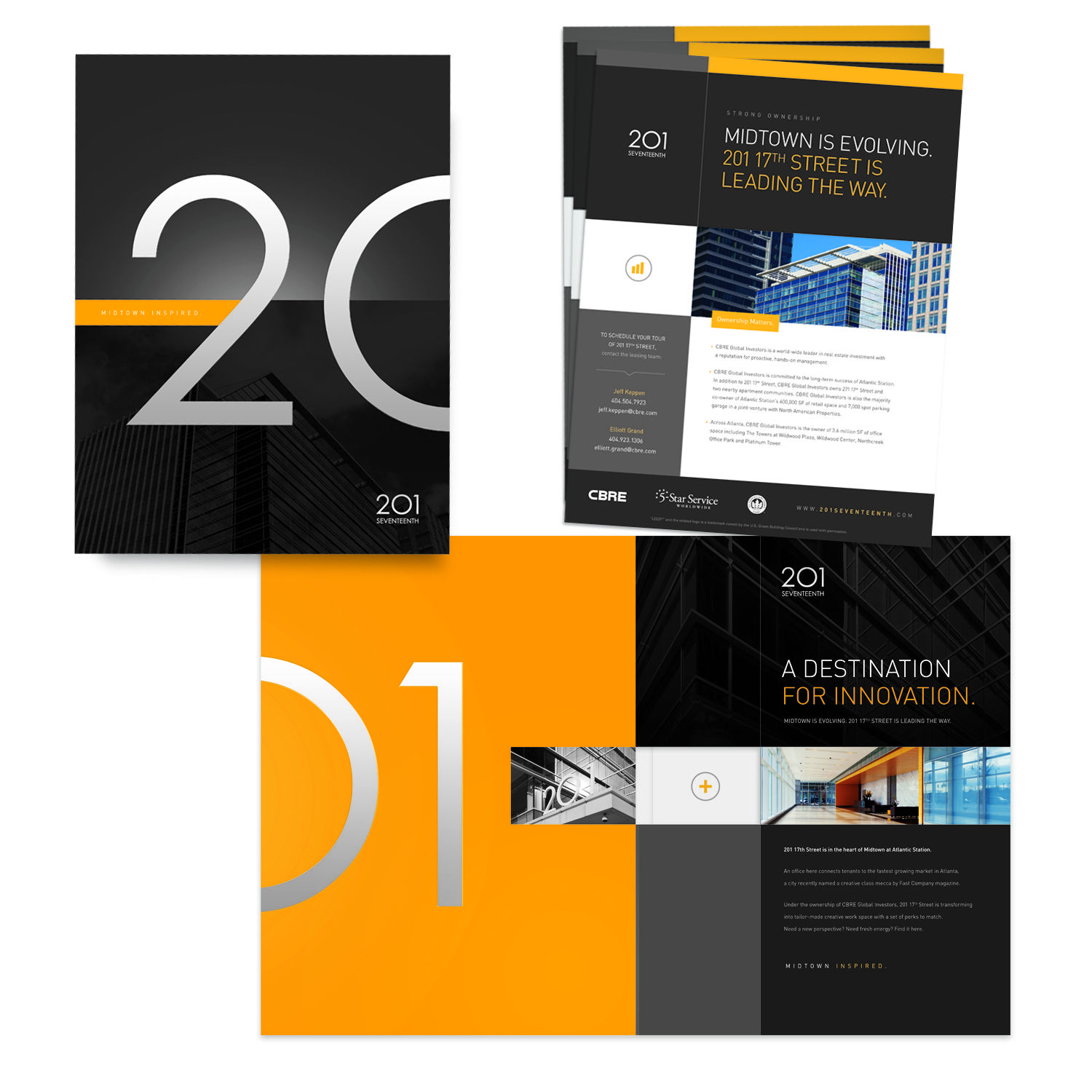201 Street Pocket Folder And Inserts  Resume Presentation Folder