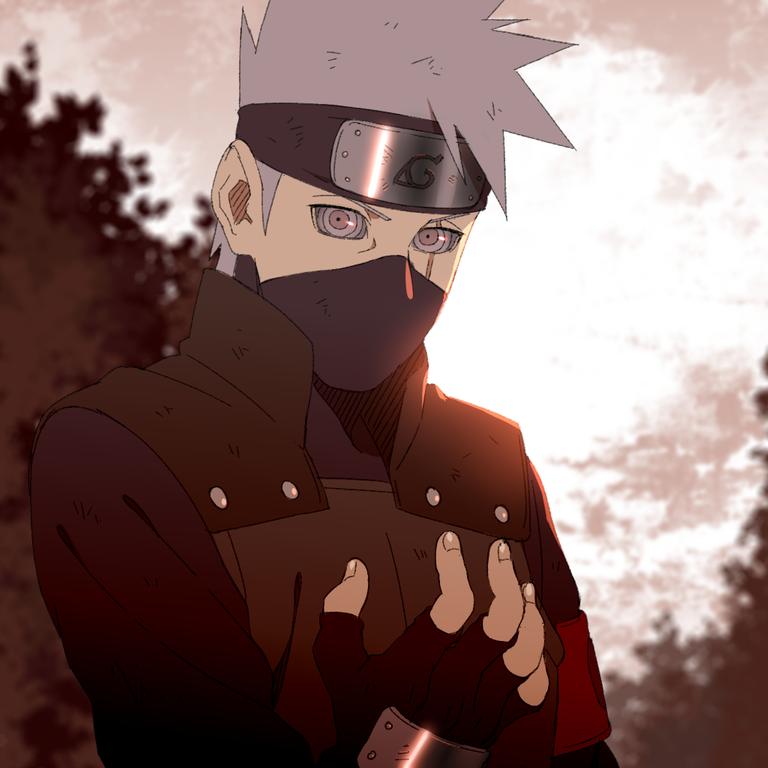 I Drew Kakashi With Rinnegan Fanart Digital Art Naruto Kakashi Kakashi Hatake Anime Naruto