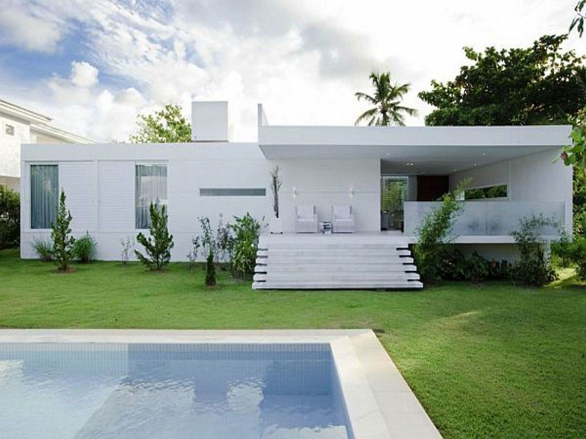 Exterior design modern guest house plans architecture for Modern villa architecture design