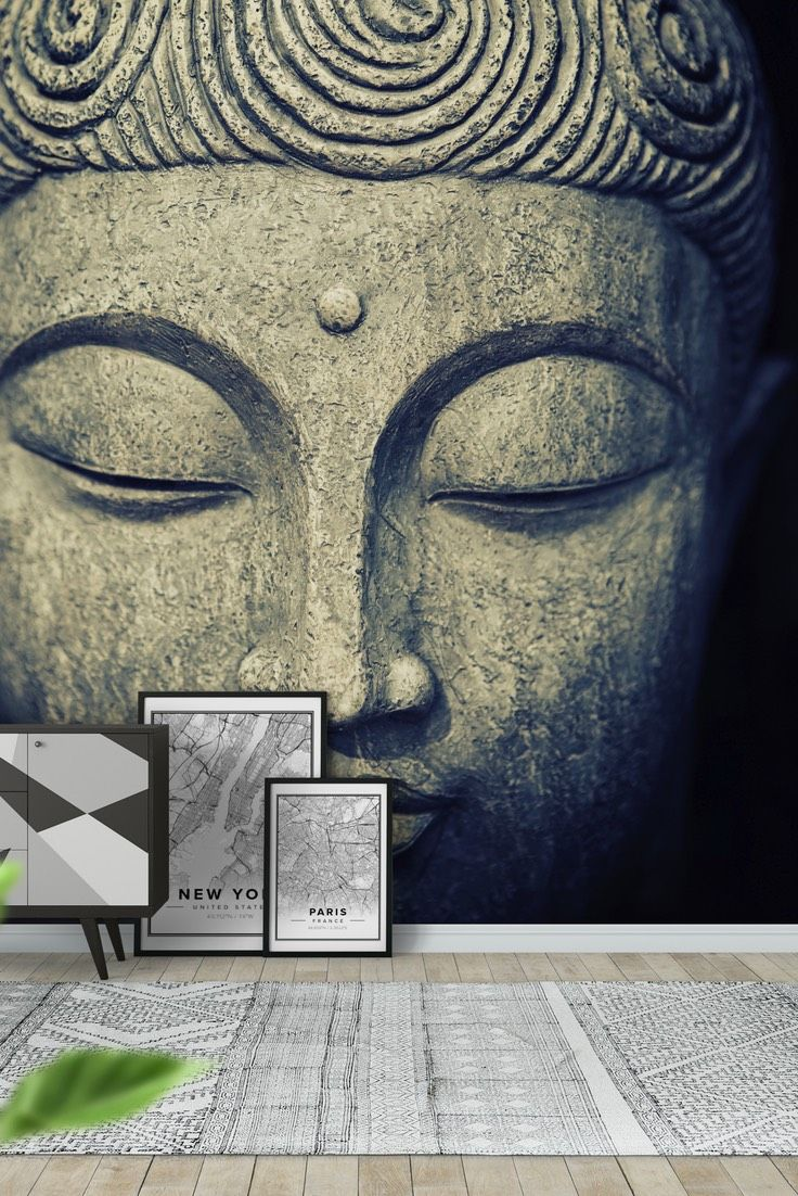 buddha face wall mural wallpaper lifestyle wall murals buddha face wall mural wallpaper