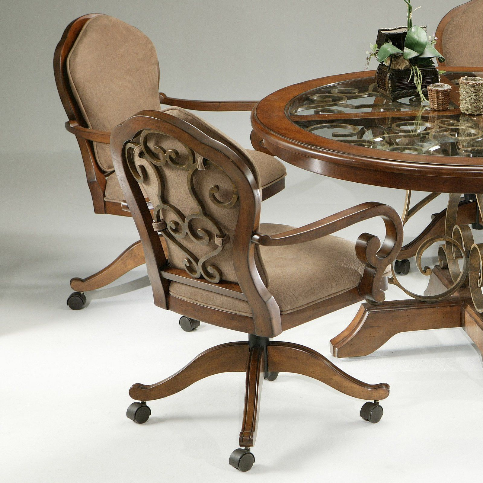 Dining room chairs with casters replacing dining room