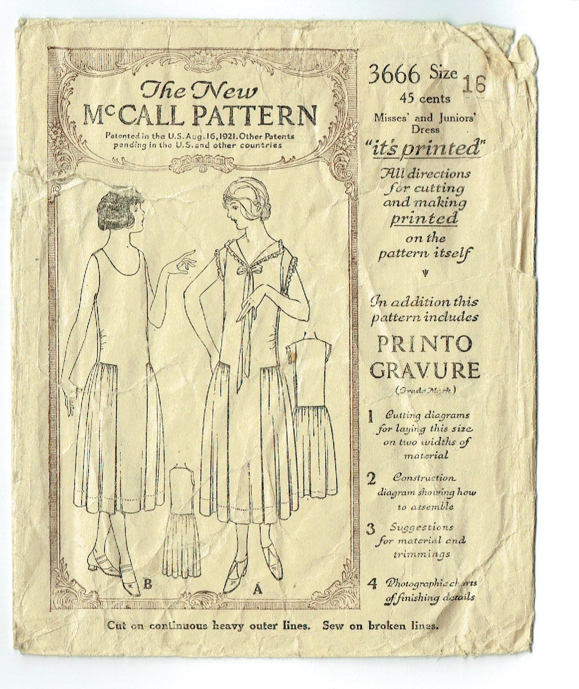 Vintage 1920s Summer Dress Pattern McCalls by RebeccasVintageSalon