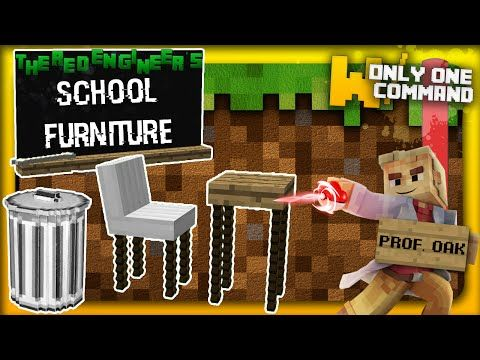 Minecraft - School Furniture with only one command block | Professor