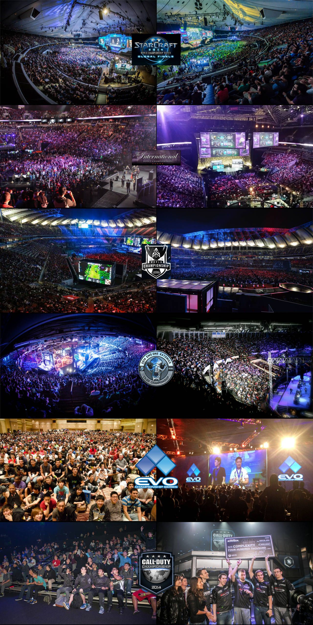 Crowds for different competitive gaming events | Gaming