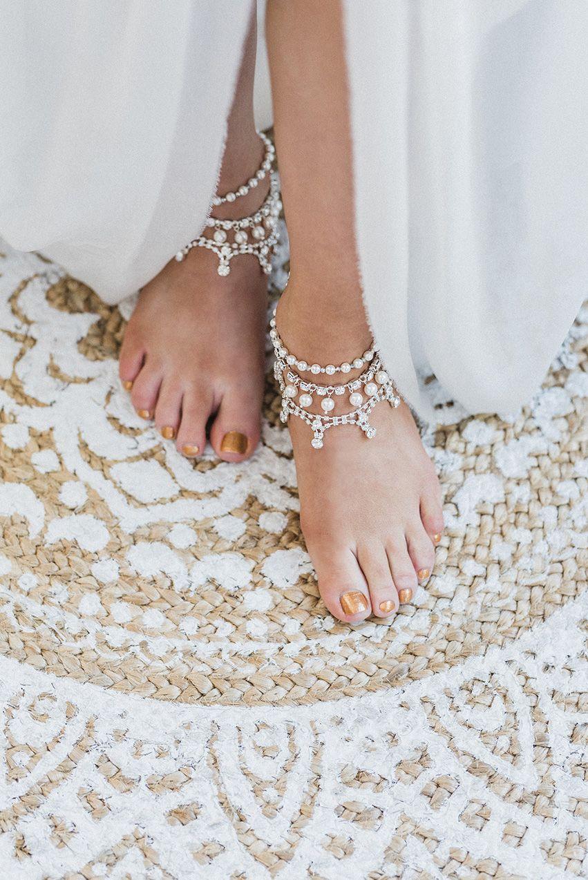 Beach wedding foot jewelry  Shakaya Bridal Anklets Beach Wedding Anklet Ankle Bracelet Boho